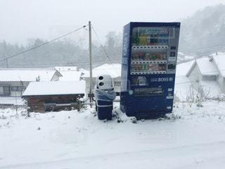 自動販売機が寒そうの写真・画像素材[1482083]