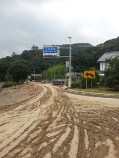 水害の後の道路の写真・画像素材[1482142]