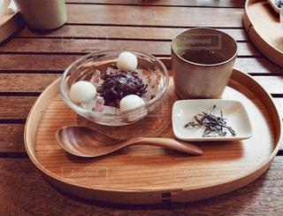 ぜんざいとお茶の写真・画像素材[1499361]