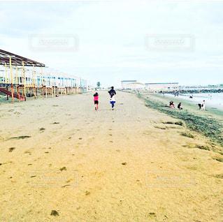 砂浜のビーチで人々 のグループの写真・画像素材[1567804]