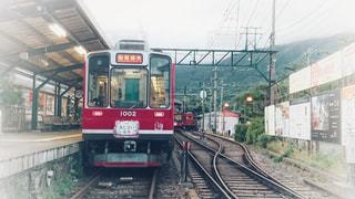 2018年の箱根登山鉄道の夜のあじさい電車の写真・画像素材[1578891]