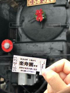 切符を持つ手の写真・画像素材[1675695]