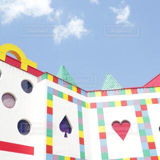 かわいい遊園地の建物🎡♥️♠️の写真・画像素材[1989283]