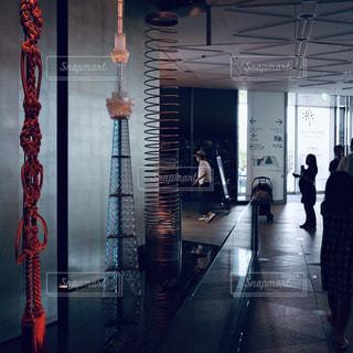 ソラマチにある東京スカイツリーの模型の写真・画像素材[2156180]