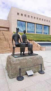 熱海のMOA美術館の像と建物の写真・画像素材[2244994]