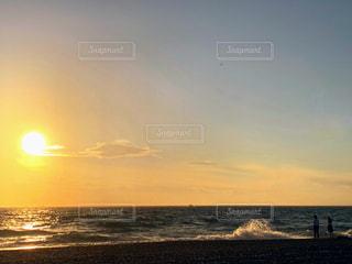 東京湾の夕陽の写真・画像素材[1657219]