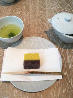 緑茶と和菓子の写真・画像素材[1485823]