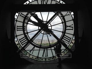 オルセー美術館の大きな時計の写真・画像素材[1497576]