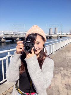 カメラ女子の写真・画像素材[1489361]