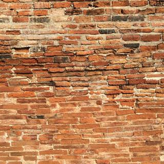 アユタヤ遺跡の壁の写真・画像素材[1486540]