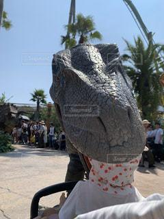 usjで恐竜に食べられたの写真・画像素材[2802506]