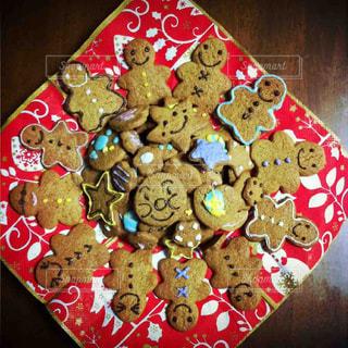 いつかの手作りクッキー。アンパンマンがいる…の写真・画像素材[1498983]