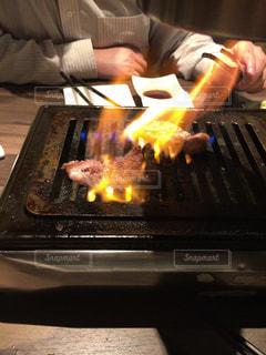 炎上焼肉の写真・画像素材[838410]