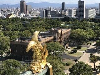 大阪城天守閣からの眺めの写真・画像素材[1568289]