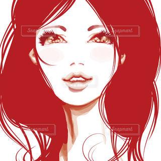 赤の女性の写真・画像素材[1489128]
