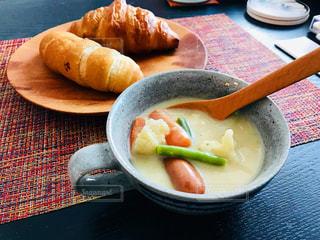 冬の朝食の写真・画像素材[1490876]