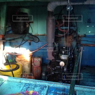 船のエンジンの写真・画像素材[1492546]