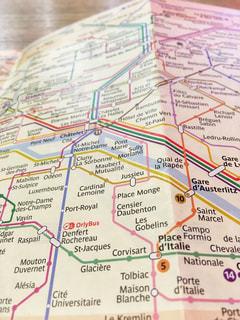 地図のクローズアップの写真・画像素材[2333714]