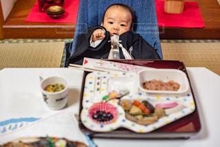 お食い初めの写真・画像素材[1722546]