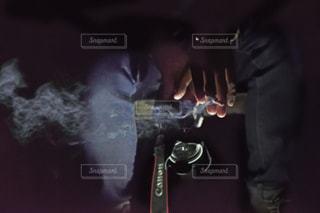 タバコの煙の写真・画像素材[1745840]