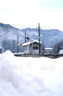 雪に覆われた鉄道の写真・画像素材[1746220]