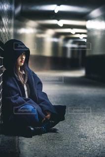 地下道ポートレートの写真・画像素材[2014423]