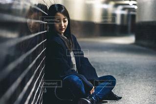 地下道ポートレートの写真・画像素材[2014429]