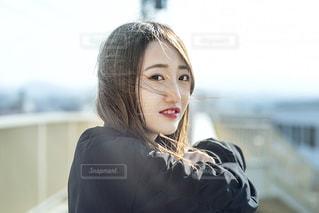歩道橋ポートレートの写真・画像素材[2014447]