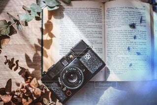 洋書とカメラとドライの写真・画像素材[2015233]