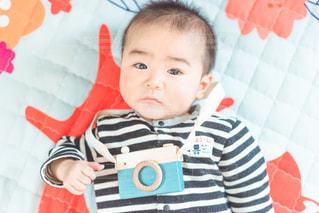 生後6ヶ月のカメラマンの写真・画像素材[2015236]