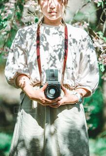 中判フィルムカメラの写真・画像素材[2249110]