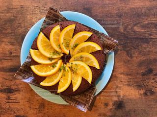 オレンジチョコケーキの写真・画像素材[1500044]
