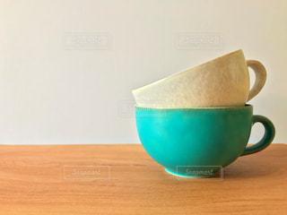 スープマグ、青の写真・画像素材[1500205]