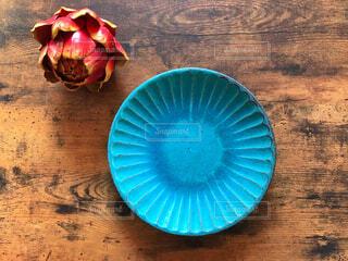 青い皿の写真・画像素材[1577021]