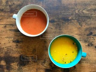 二人分のスープの写真・画像素材[1606391]