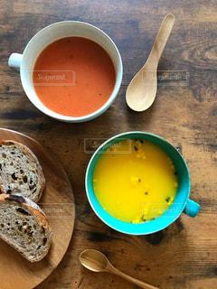 スープとパンの写真・画像素材[1606396]