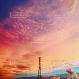 夕焼け空の写真・画像素材[1500693]