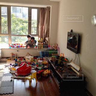 散らかったおもちゃ達の写真・画像素材[1508867]