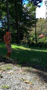 暑い日の外遊びの写真・画像素材[2072101]