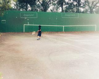 壁打ちテニスの写真・画像素材[2482495]