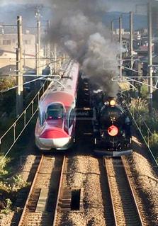 SLと新幹線の写真・画像素材[1531549]