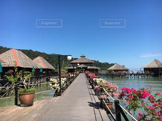 コタキナバルの水上コテージの写真・画像素材[1506418]