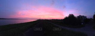 紫の夕焼けの写真・画像素材[1501748]
