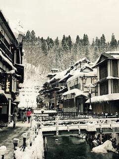 銀山温泉の写真・画像素材[1504402]