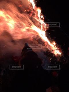どんど焼きの写真・画像素材[1502202]
