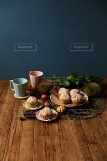 秋の味覚  マロンパイの写真・画像素材[1509325]