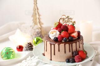 クリスマスケーキの写真・画像素材[1718666]