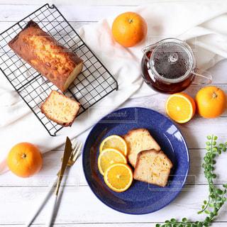 オレンジのパウンドケーキの写真・画像素材[1718670]