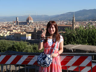 フィレンツェが見渡せる公園にての写真・画像素材[1505479]