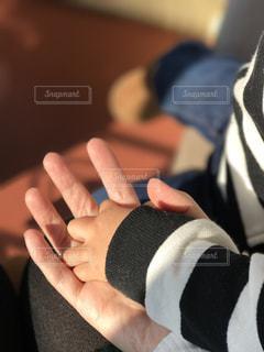 手を繋ぐ母と子の写真・画像素材[1511336]